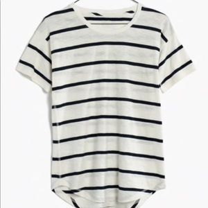 Made well Striped Tee Whisper cotton